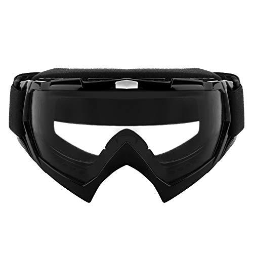 Kühle Outdoor-Brille Motorradbrillen Motocross Reitbrillen Snowboard Skibrillen Anti-UV-Winddicht Staubdicht Anti-Fog mit verstellbarem, rutschfestem Gurt für Erwachsene Off-Road-Dirt Bike Wintersport (Kinder-ski-schutzbrillen, Klare Linse)