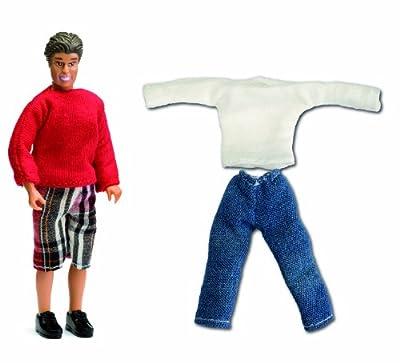 Lundby Småland 60.8046.00 - Figura de padre con conjunto de ropa adicional para casa de muñecas (escala 1:18) [importado de Alemania] de Lundby