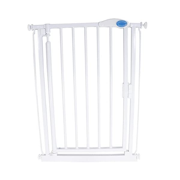 Bettacare Extra Narrow Stair Gate (61 to 66.5 cm) Bettacare Auto close mechanism shuts and locks the gate automatically. Height is 76 cm Designed for Extra Narrow Doors & Stairs 61-66.5cm ,Extra narrow width with a wide walk through area of 46 cm Gate can be extended using optional Bettacare extensions, stair spindle kit also available 1