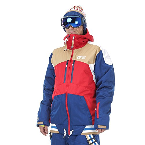 Picture Snow Jackets - Picture PANEL JACKET - ... red/dark blue/beige/white