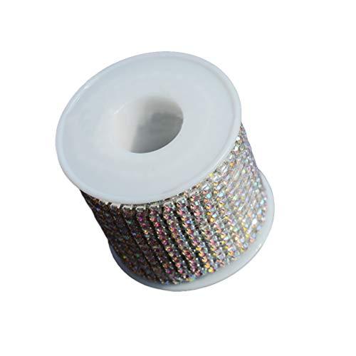 SUPVOX Strass Kette Strass String Diamant Glas Mesh Wrap Ribbon Roll Hochzeit Gunsten Decor Party - Supply Chain Kostüm