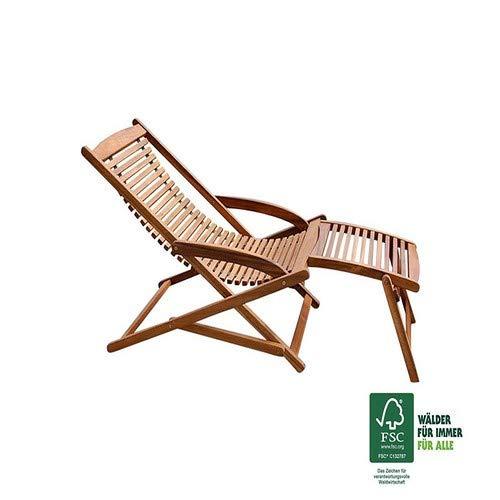SAM® Akazie Holz Deckchair Fuki - 3