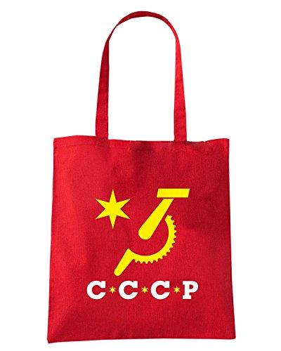 T-Shirtshock - Borsa Shopping TCO0039 cccp falce e martello comunismo Rosso