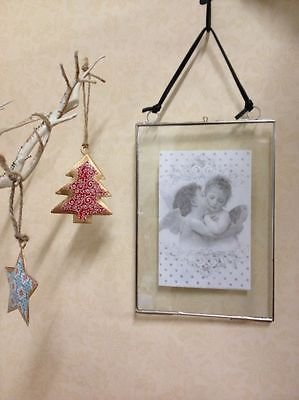 Glass Silver Metal Photo Picture Frame Vintage Chic Ornate Wall Hanging 8