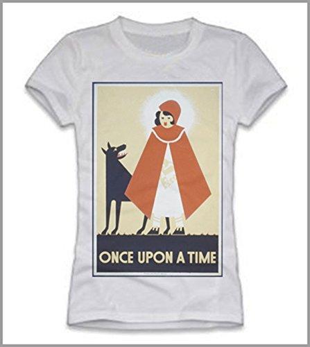 Camiseta mujer Caperucita Rojo, mujer niña, Bianco, L