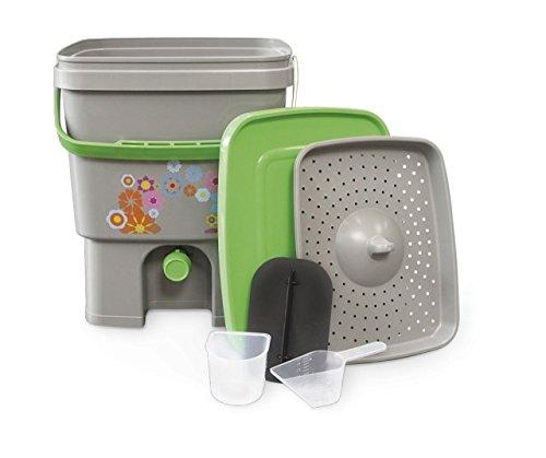 Organico Bokashi Kompost-Eimer für Küchenabfälle - Küchenkomposter für Effektive Mikroorganismen -
