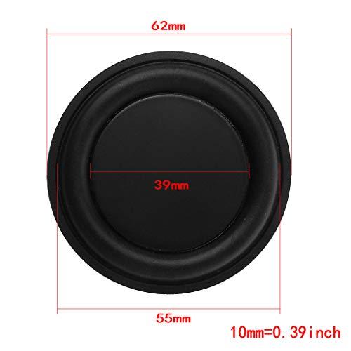 FXCO Bass-Lautsprecher aus Gummi, untere Membran, Vibration, Lautsprecher für Heizkörper, 62 mm (Massive Car-audio-lautsprecher)