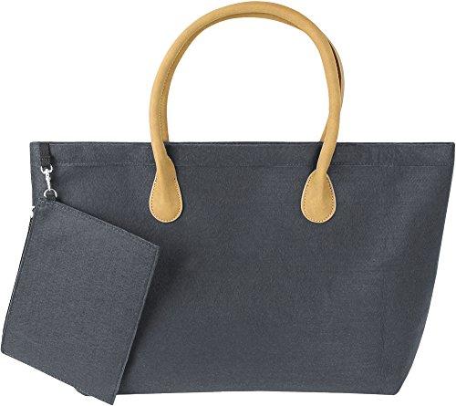 Grande Pratica borsa per la spesa Shopper in versione moderna in Feltro, Anthrazit Anthrazit
