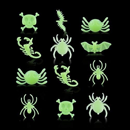 nce Party leuchtende Spinne Ring im Dunkeln leuchten Fingerringe Tier Design Coole Schmuck Zubehör Spielzeug-Set ()