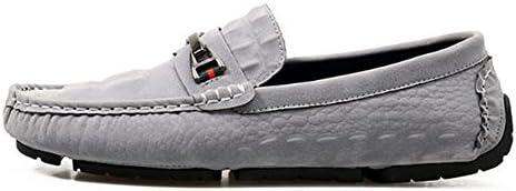 Mocasines para Caminar Zapatos de Cuero Casuales de los Hombres de Verano Mocasín Slip On Laofers Zapatos de Barco