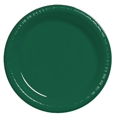 Creative Converting Touch der Farbe 20 Zählen 26 cm Kunststoff Bankett Teller hunter green Hunter Green Teller