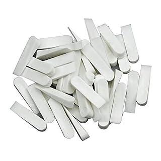 50 Stck Fliesenkeile 37 x 7 mm Fugenkeile Keile PVC Fliesenleger