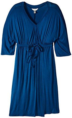 Three Seasons Umstandsüberzug für Damen, 3/4-Ärmel, Dolman-Imitat - Blau - 1X Plus - Dolman Sleeve-wrap