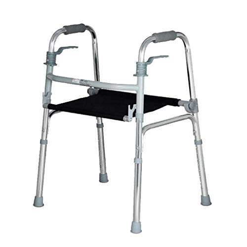 Einfache Idee Höhenverstellbarer Gehwagen mit Sitz für Ältere Menschen Gehhilfe für die Medizinische Mobilität für Senioren Gehwagen für Erwachsene mit Behinderung für Den Innen- und Außenbereich Tra