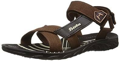 Bata Men's James-Eco Brown Athletic & Outdoor Sandals - 7 UK (8614801)