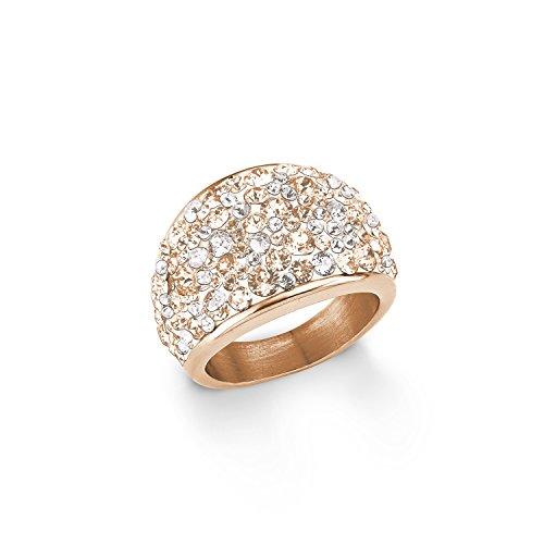 s.Oliver Damen-Ring 16 mm Swarovski Elements Edelstahl Kristall mehrfarbig Gr. 58 (18.5) - 567565