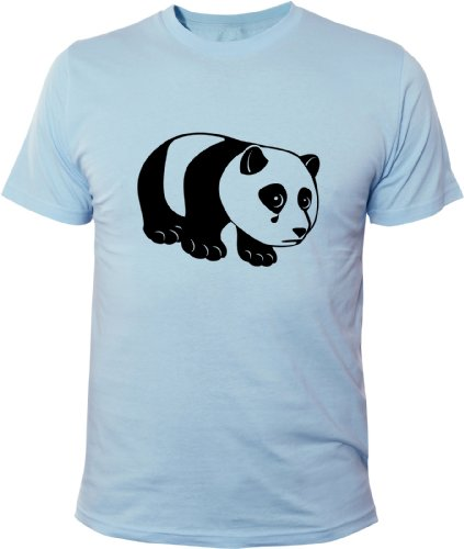 Mister Merchandise Cooles Fun T-Shirt Sad Panda Hellblau