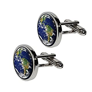 Planet Earth Cufflinks Men's Space Astronomy