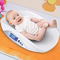 Infantastic Digital Baby Waage | Elektronische Kinderwaage mit USB Kabel und LCD-display | max. Traglast: ca. 20 kg