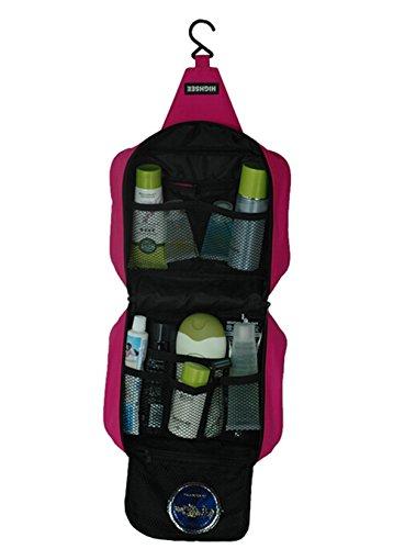 lazutom tragbar groß Kapazität Wasserdicht Travel Buggy Tasche Kulturbeutel Kulturtaschen rot - rose