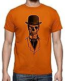 latostadora - Camiseta Lord Skull Chico para Hombre Naranja 3XL