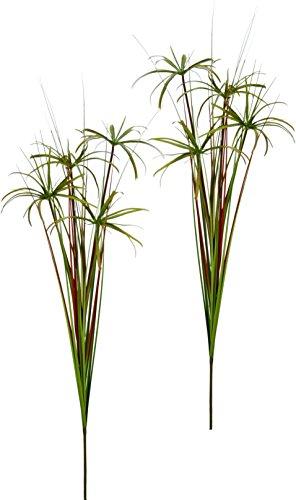 Flair Flower Zyperngraszweig, 2er Set, Kunststoff, Grün Hell, 10 x 10 x 120 cm, 2-Einheiten
