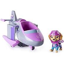 Paw Patrol Sea Patrol Themed Vehicle Skye vehículo de juguete - Vehículos de juguete (Gris, Rosa, Avión, 3 año(s), Niño/niña, Interior, China)