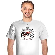 Moto Clásica Ducati 175 T 1957 - Camiseta de Manga Corta para Hombre