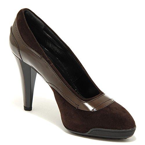 7046 decollete donna marrone TOD'S scarpe scarpa shoes women Marrone
