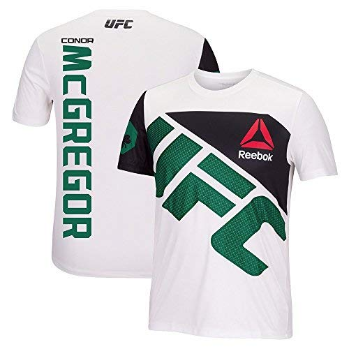 4e3e76248be81 Reebok Conor McGregor UFC Fight Kit Official (White/Green) Walkout Jersey  Men's
