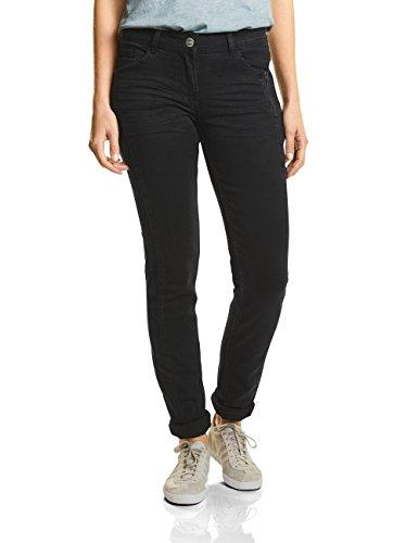 CECIL Damen Slim Jeans Charlize 371093, Schwarz (Black Denim 10273), W46/L30 (Herstellergröße: 36) (Tight Leg Jeans)