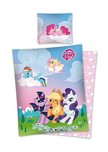Mein kleines Pony Bettwäsche 100% Baumwolle, Bettbezug 140x 200+ Kissenbezug 70x 80Bettwäsche My little Pony (My Little Pony Disney)