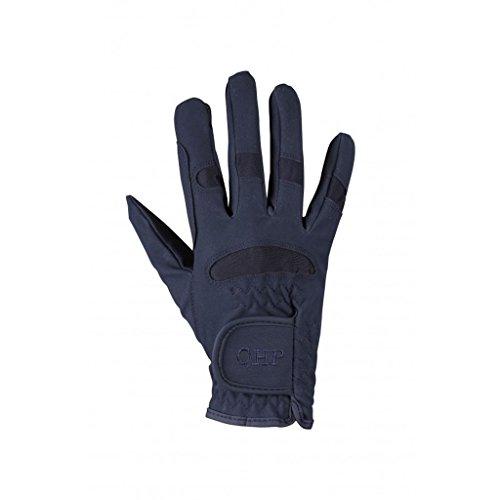 QHP Reithandschuhe Kinder-Handschuhe Multi luftdurchlässig Stretch Klett (Dunkelblau, Junior 2)