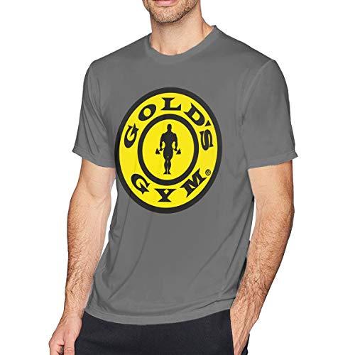 Herren T-Shirt Gold Gym T-Shirts Kurzarm T-Shirt Sommer O Neck T-Shirt für Männer Jugend Jungen Kleidung Deep Heather XL -