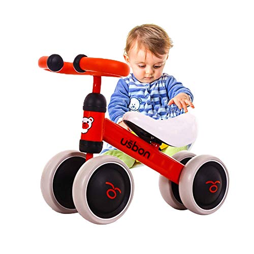Arkmiido Kinder Laufrad Spielzeug für 1-3 Jahr, Lauflernrad für Baby und Kinder, Lauflernrad 4 Rädern, baby balance fahrrad