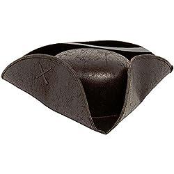 Sombrero de auténtico pirata, color marrón.