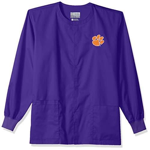 WonderWink Unisex Erwachsene Jacke Clemson University Snap Front Jacket Grape LG Snap-front-jacke