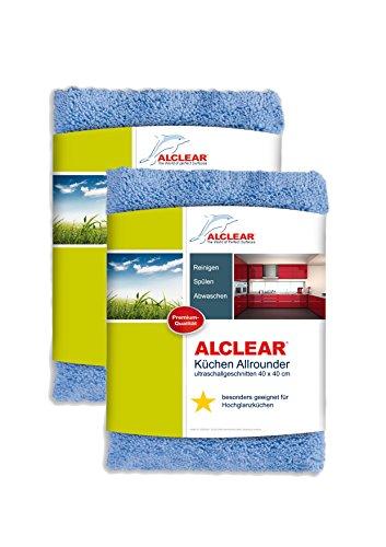 Preisvergleich Produktbild ALCLEAR 820203K_2 Küchen Allrounder, reinigt Hochglanzküchen schonend und gründlich, 40x40 cm, blau, 2er Set