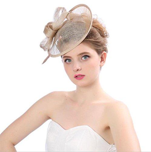 Braut Schmuck Retro Flachs europäischen Stil Net Garn Fliege Partei Hochzeit Hut Kopfschmuck , A (Stirnband Birdcage)