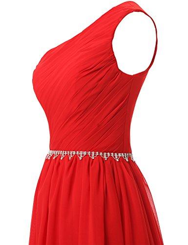 Clearbridal Damen Formale Chiffon Abendkleid Farbverlauf Bandage Maxikleid Brautjungfer Kleid CSD231 Korallenrot