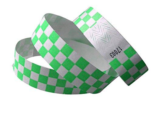100unidades pulseras de control (19mm ancho x 255mm largo) Color verde