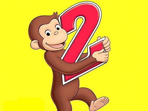 Curious George 2 Year Old Edible Cake Topper Frosting 1/4 Sheet Birthday Party by ex