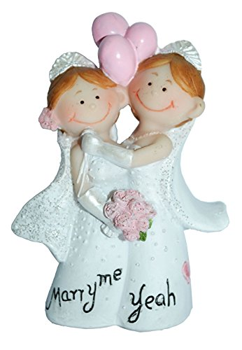 Dekofigur - Hochzeitspaar Mrs & Mrs   Hochzeitsgeschenke für Brautpaar   Hochzeitsdeko   lesbisches Brautpaar   Hochzeitsgeschenk   gleichgeschlechtliche Hochzeit   Tortendeko   lesbische Hochzeit   Dekofiguren   Preis am Stiel®
