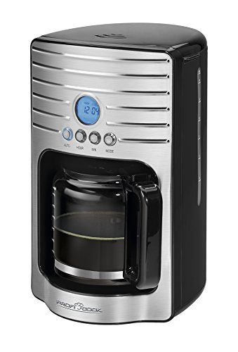 Profi Cook PC-KA 1120 Filterkaffeemaschine mit LCD-Timer, 15 Tassen, 1000 W, edelstahl/schwarz