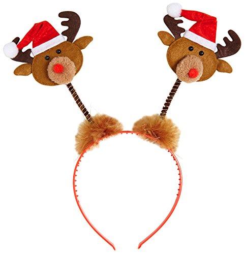 Widmann Haarreifen Rentier mit Mütze Weihnachtsmann unisex-adult, braun, -