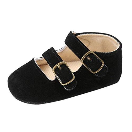 Bzline® Weiche Schwarz Schuhe Sneakers Krippe Mädchen Baby Jungen Sohle RqxRHFgw