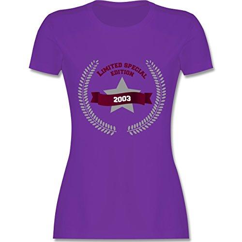 Shirtracer Geburtstag - 2003 Limited Special Edition - Damen T-Shirt Rundhals Lila