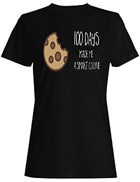 100 Días Me Convirtieron En Una Cookie Inteligente camiseta de las mujeres j110f