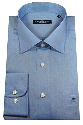 Casa Moda Langarm Hemd dunkelblau 100% Baumwolle Kentkragen EXTRA LANGER ARM 72cm Blau