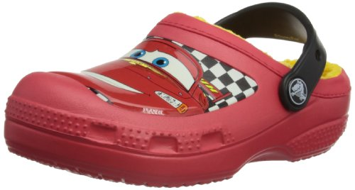 Crocs CC McQueen Lined Sabot Kids, Zoccoli e sabot, Unisex - bambino Rosso (Red)